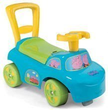 Bébitaxi és járássegítő Peppa malac Autó 2in1 Smoby 10 hónapos kortól kék
