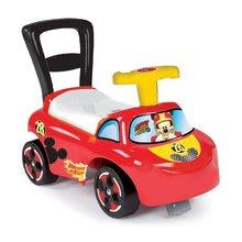 Bébitaxi és járássegítő Auto Mickey Smoby 2in1 Smoby háttámasszal és tárolóhellyel 10 hónapos kortól piros