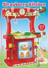 Bucătării simple de jucărie - Bucătărie Strawberry Dohány cu 21 de accesorii de la 18 luni_2