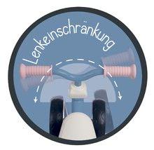 Odrážedla od 12 měsíců - Odrážedlo Rookie Pink Smoby s kovovou konstrukcí a točícími řídítky od 12 měsíců_4
