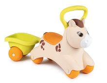 Odrážadlo s prívesom Baby Pony Smoby ergonomicky tvarované sedadlo a úchyt od 12 mes