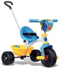 Tricicletă În căutarea lui Dory Be Move Smoby cu mâner de împins albastru-galben de la 15 luni