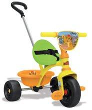 Tříkolka pro děti Lví hlídka Be Move Smoby s vodící tyčí od 15 měsíců oranžovo-zelená
