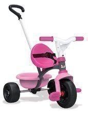 Trojkolka pre deti Be Move Smoby s vodiacou tyčou od 15 mesiacov ružovo-šedá