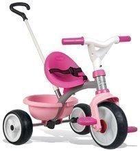 Tricikl Be Move Pink Smoby s EVA gumenim kotačima i praznim hodom ružičasti od 15 mjeseci