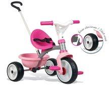 Tricikli Be Move Pink Smoby EVA gumi kerekekkel és szabadonfutó 15 hó kortól rózsaszín