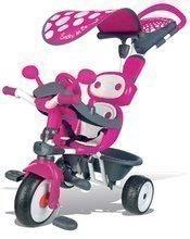 Tricikli Baby Driver Smoby napellenzővel 10 hónapos kortól rózsaszín-szürke