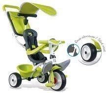 Tříkolka Baby Balade Smoby s EVA kolečky zelená od 10 měsíců