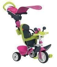Trojkolka s poťahom Baby Driver Comfort Pink Smoby s EVA kolesami a intuitívnym ovládaním ružová