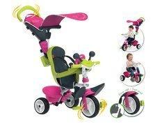 Tricikli huzattal Baby Driver Comfort Pink Smoby EVA kerekekkel és intuitív vezérléssel 10 hó kortól rózsaszín