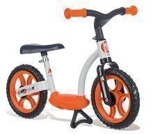 Bicicleta fără pedale Learning Bike Smoby cu scaun reglabil negru-portocaliu de la 24 luni