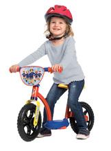 Tanulóbicikli Learning Bike Sam a tűzoltó Smoby magasságra állítható üléssel 24 hó-tól