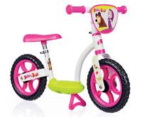 Smoby balančné odrážadlo Máša a medveď Learning Bike 770109 bielo-ružové