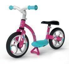 Poganjalno kolo Balance Bike Comfort Pink Smoby s kovinsko konstrukcijo in po višini nastavljivim sedežem od 24 mes
