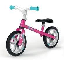 Bicicletă educativă First Bike Pink Smoby cu structură metalică şi scaun reglabil de la 24 luni