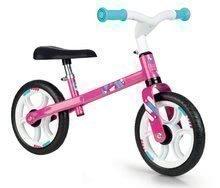 Balančné odrážadlo First Bike Pink Smoby s kovovou konštrukciou a nastaviteľným sedadlom od 24 mes