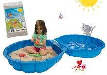 Set nisipar Scoică BIG cu două părţi şi nisip igienic de jucărie pentru nisipar 15 kg de la 18 luni