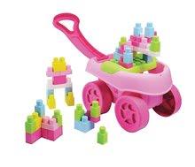 Jucărie de construit în maşinuţă Abrick Maxi Écoiffier cu cuburi mari roz 40 bucăţi de la 12 luni
