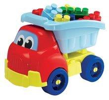 Autobasculantă Abrick Maxi Écoiffier cu cuburi mari de construit 30 de bucăţi de la 12 luni