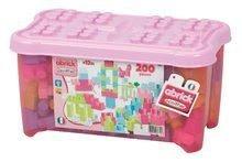 Dětská stavebnice Maxi Abrick Écoiffier růžová nádoba od 12 měsíců 200 dílů
