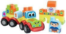 Dětský vláček s vozem Abrick Écoiffier stavebnice s IML potiskem 42 dílů od 12 měsíců