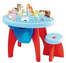 Stavebnica pre deti Maxi Abrick Écoiffier s didaktickým stolom a kockami s IML potlačou od 12 mesiacov 35 ks
