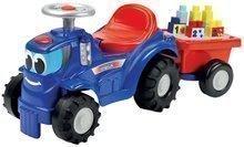 Dětské odrážedlo traktor s přívěsem Maxi Abrick Écoiffier s 11 kostkami od 12 měsíců modrý