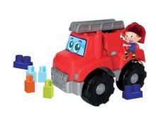 Stavebnica pre bábätká Les Maxi Ecoiffier požiarne auto s 15 kockami od 12 mesiacov ECO7818