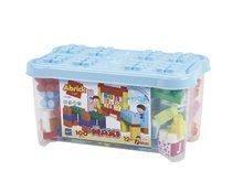 Stavebnica pre bábätká Les Maxi Ecoiffier dóza 100 kociek s obrázkami písmenami a číslami od 12 mesiacov ECO7839