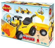 Guralice za djecu od 12 mjeseci - Guralica s prikolicom Backhoe Ride on Maxi Abrick Ecoiffier s bagerom i utovarivačem 8 maxi kocki od 12-36 mjes_6