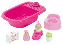 Doplnky pre bábiky - Vanička pre bábiku Nursery Écoiffier s doplnkami ružová od 18 mes_0