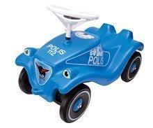 Odrážadlá sety - Set odrážadlo Bobby Classic Polícia BIG s klaksónom modré a naťahovacie autíčko Mini Bobby 12 mesiacov_0