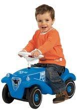 Odrážadlá sety - Set odrážadlo Bobby Classic Polícia BIG s klaksónom modré a naťahovacie autíčko Mini Bobby 12 mesiacov_3