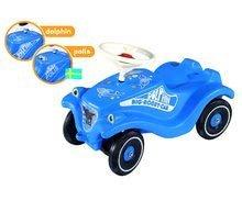Odrážadlá sety - Set odrážadlo Bobby Classic Polícia BIG s klaksónom modré a naťahovacie autíčko Mini Bobby 12 mesiacov_4