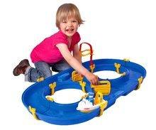 Vodne dráhy pre deti - Vodná hra Waterplay Rotterdam BIG skladacia s lodičkami modrá_0