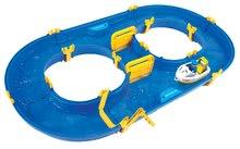 Vodne dráhy pre deti - Vodná hra Waterplay Rotterdam BIG skladacia s lodičkami modrá_1