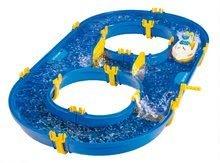 Vodne dráhy pre deti - Vodná hra Waterplay Rotterdam BIG skladacia s lodičkami modrá_2