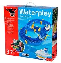 Vodne dráhy pre deti - Vodná hra Waterplay Rotterdam BIG skladacia s lodičkami modrá_10