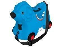 Odrážedlo kufr na kolečkách Pes Bobby BIG s tajnou přihrádkou 15 L objem modré