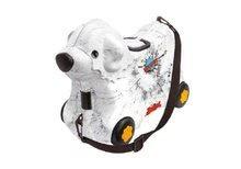 Dětský kufřík odrážadlo Pes Bobby BIG bílý 15 l objem s tajnou priehradkou