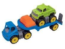 Transportér s terénnym autom BIG Power Worker s gumenými kolieskami a formička do piesku