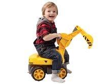 Odrážedla od 18 měsíců - Bagr Max Power BIG se sedadlem délka 73 cm žlutý_10