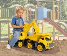 Odrážedla od 18 měsíců - Bagr Max Power BIG se sedadlem délka 73 cm žlutý_15
