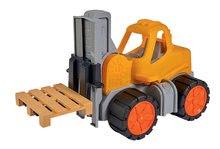 Homokozó autók - Targonca Forklift Power Worker BIG munkagép funkciókkal 42 cm - gumikerekekkel 2 éves kortól_1