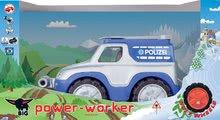Stavebné stroje - Auto Polícia BIG pracovné dĺžka 33 cm modro-sivé od 24 mes_2