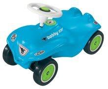Odrážadlá sety - Set odrážadlo New Bobby BIG s klaksónom tyrkysové a autíčko Mini Bobby na naťahovanie od 12 mes_0