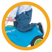 Odrážadlá sety - Set odrážadlo New Bobby BIG s klaksónom tyrkysové a autíčko Mini Bobby na naťahovanie od 12 mes_3