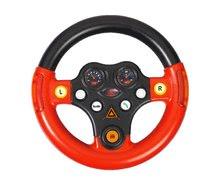Odrážadlá sety - Set odrážadlo Bobby Classic BIG s klaksónom červené, interaktívny volant a autíčko Mini Bobby na naťahovanie od 12 mes_8