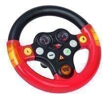 Odrážadlá sety - Set odrážadlo Bobby Classic BIG s klaksónom červené, interaktívny volant a autíčko Mini Bobby na naťahovanie od 12 mes_10