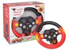 Odrážadlá sety - Set odrážadlo Bobby Classic BIG s klaksónom červené, interaktívny volant a autíčko Mini Bobby na naťahovanie od 12 mes_31
